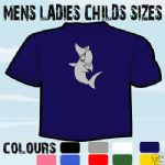 SHARK JAWS CARTOON PICTURE T-SHIRT ALL SIZES & COLOURS